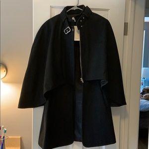 Elva Wool Cape Coat